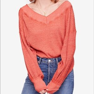 Free people southside thermal pullover